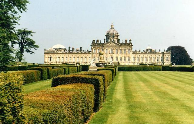 A view of Castle Howard and gardens