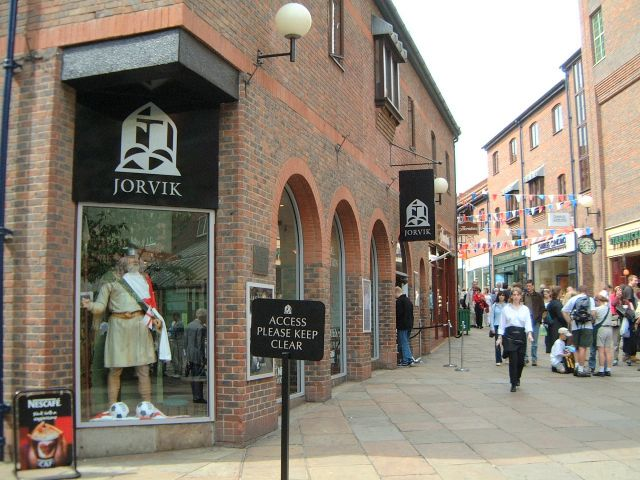 The Jorvic viking centre at Coppergate York