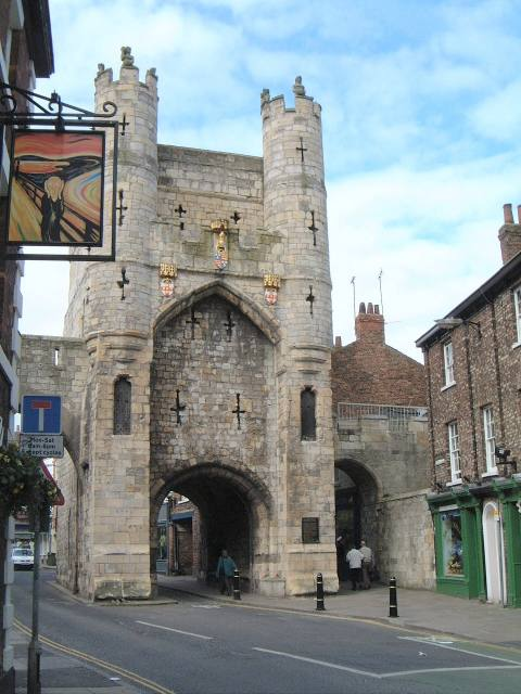 Monkgate Bar, one of the medieval gates which also provides access to the city walls.