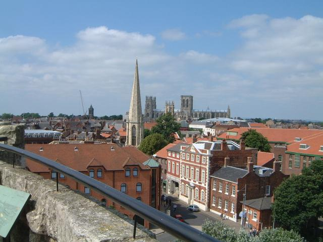 View from the top of Cliffords Tower